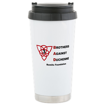 Take your support for the Romito Foundation everywhere you go with this great travel mug!