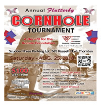 Cornhole Tournament Aug 25th, 2018 at Scudder Press in Thornton